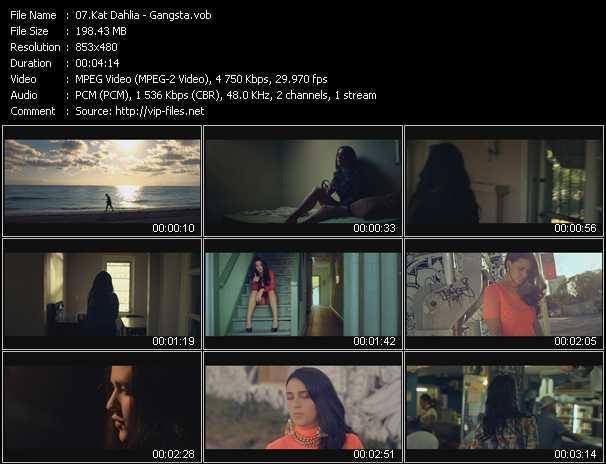 Music Video of Kat Dahlia - Gangsta - Download HQ Videoclip