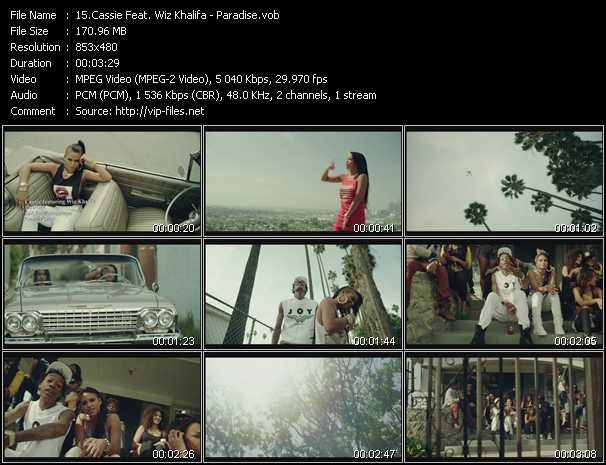 Music Video of Cassie - Numb - Download HQ Videoclip(VOB)