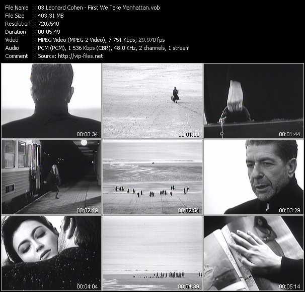 Videopool modern dance august 1988 leonard cohen video for Leonard cohen music videos