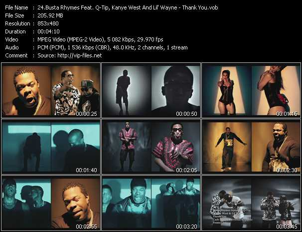 """Go behind the scenes of busta rhymes' """"thank you"""" video ft. Q-tip."""