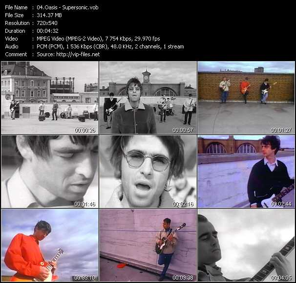 Music Video of Oasis - Roll With It - Download HQ Videoclip
