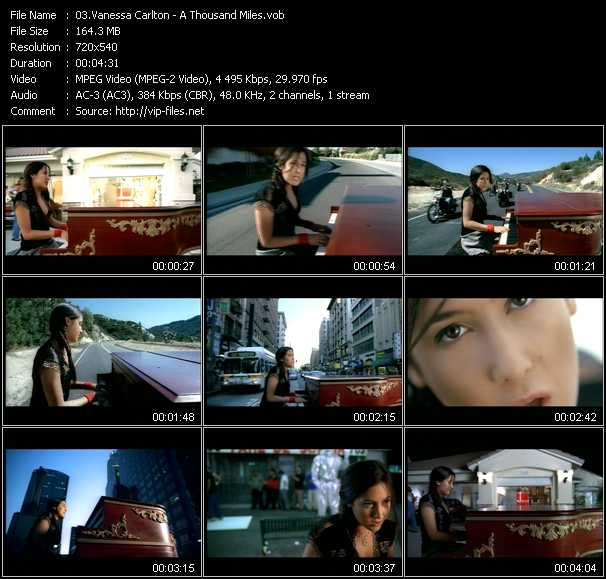free download vanessa carlton a thousand miles video