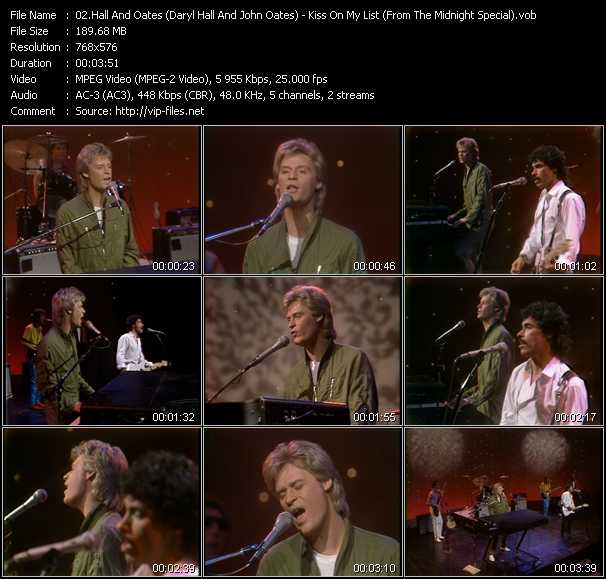 Music Video Feat Daryl Hall And John Oates Don T Hold Back Your Love Download Hq Videoclip Vob