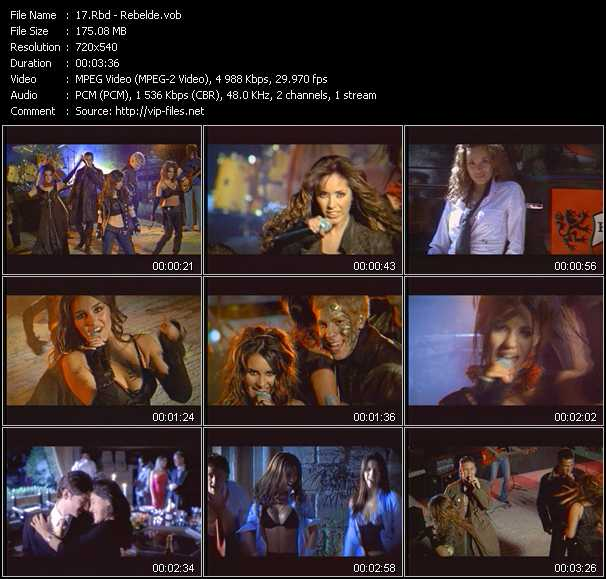 Rbd Music Videos and Video Clips feat  Rbd(total: 8