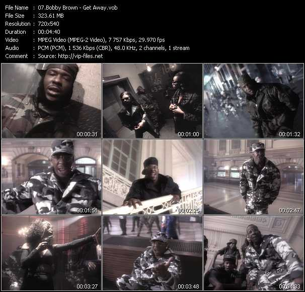 Screenshot of Music Video of Bobby Brown - Video Song: «Get Away»