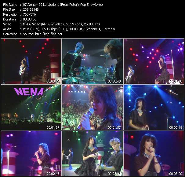 Music Video 99 Luftballons From Peters Pop Show