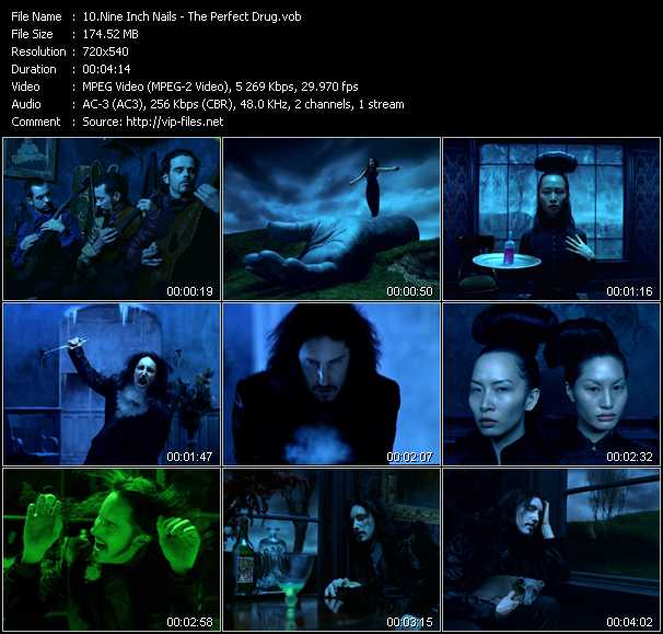 Music Video of Nine Inch Nails - Hurt - Download HQ Videoclip(VOB) .