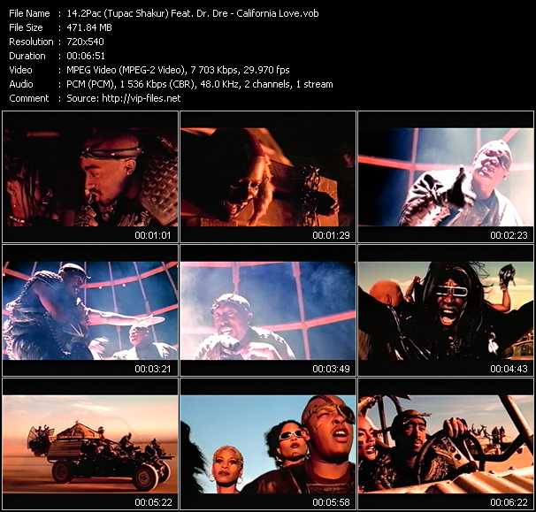 2Pac Music Videos and Video Clips feat  2Pac(total: 52