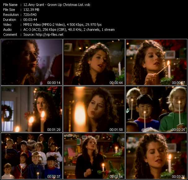 amy grant music video grown up christmas list - Amy Grant Grown Up Christmas List
