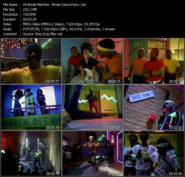 Music Video of Break Machine - Break Dance Party - Download