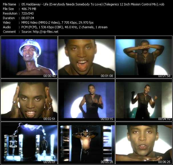 Music Video Of Haddaway What Is Love Download Hq Videoclip Vob