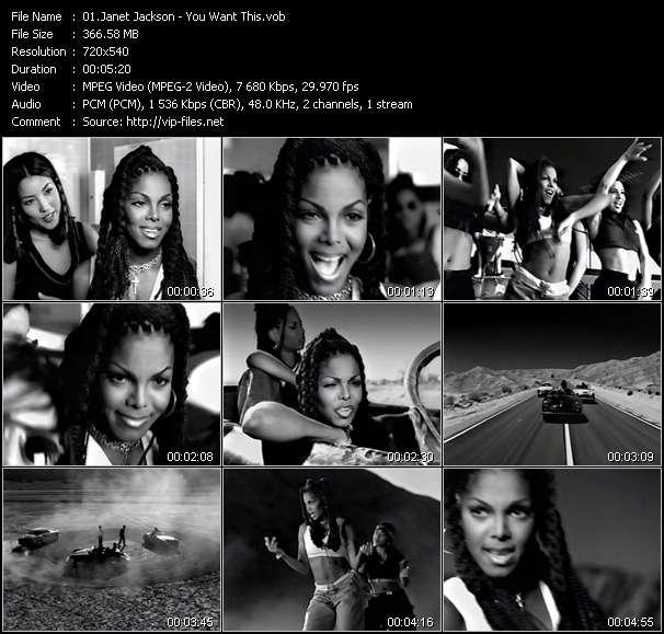 Music Video of Janet Jackson - Black Cat - Download HQ