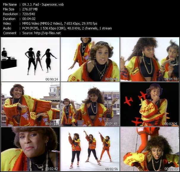 Music Video of J J  Fad - Supersonic - Download HQ Videoclip