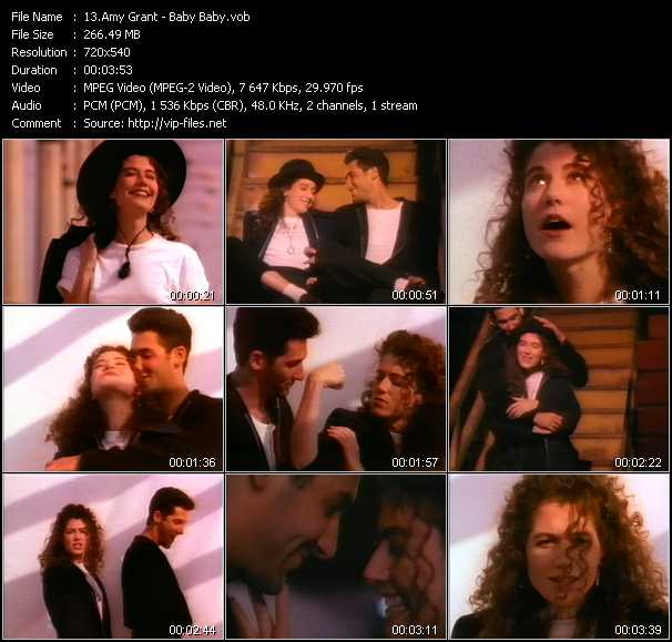 Screenshot of Music Video of Amy Grant - Video Song: «Baby, Baby»