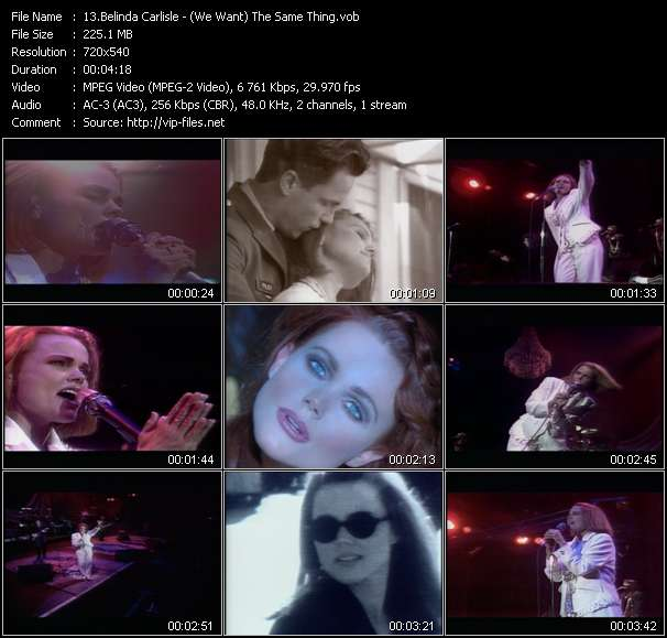 Screenshot of Music Video of Belinda Carlisle - Video Song: «The Same Thing»