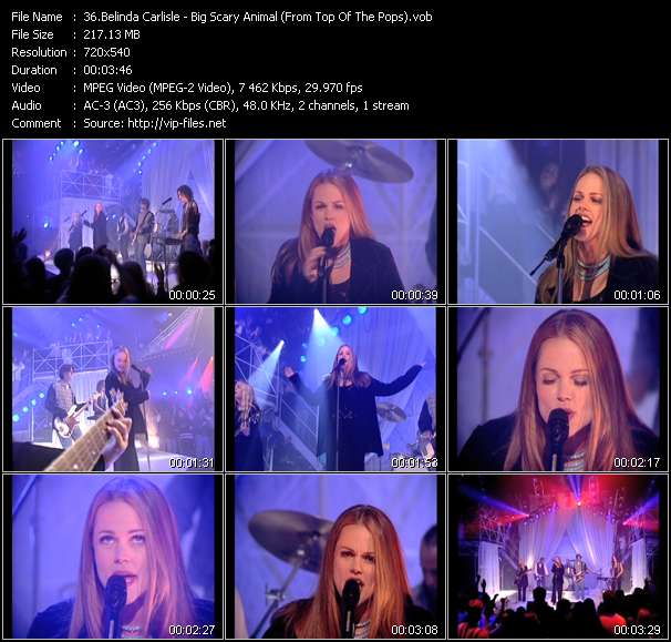 Screenshot of Music Video of Belinda Carlisle - Video Song: «Big Scary Animal»