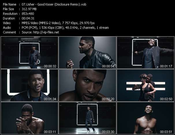 Screenshot of Video Song: «Good Kisser» of Usher