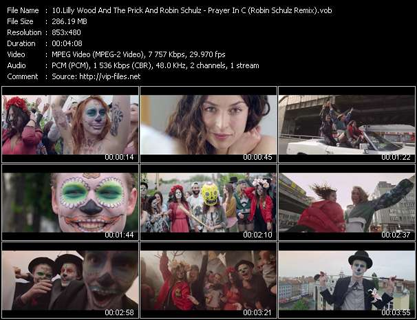 Screenshot of Video Song: «Prayer In C» of Lilly Wood And The Prick, Robin Schulz