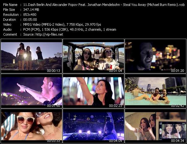Screenshot of Video Song: «Steal You Away» of Dash Berlin, Alexander Popov, Jonathan Mendelsohn
