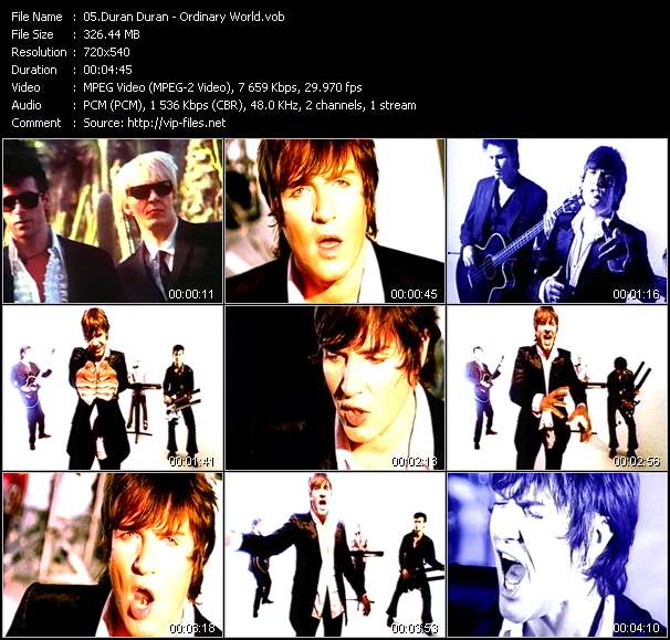 Screenshot of Music Video of Duran Duran - Video Song: «Ordinary World»