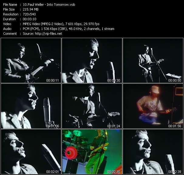 Screenshot of Music Video of Paul Weller - Video Song: «Into Tomorrow»