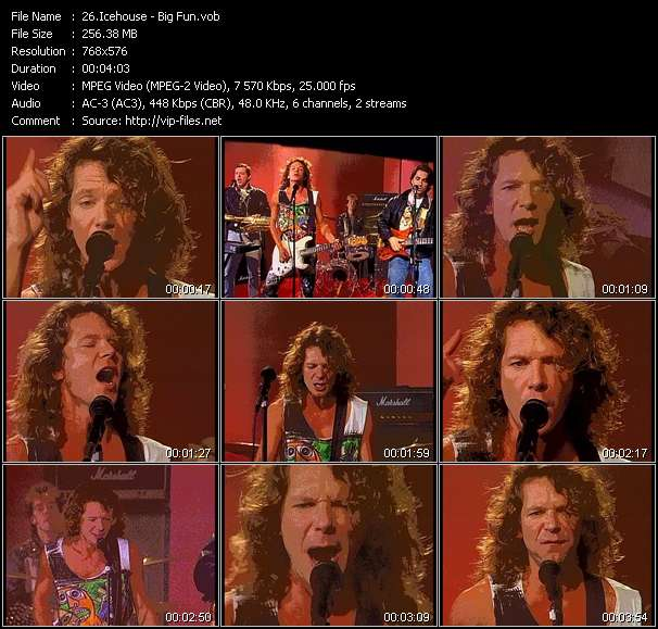 Screenshot of Video Song: «Big Fun» of Icehouse