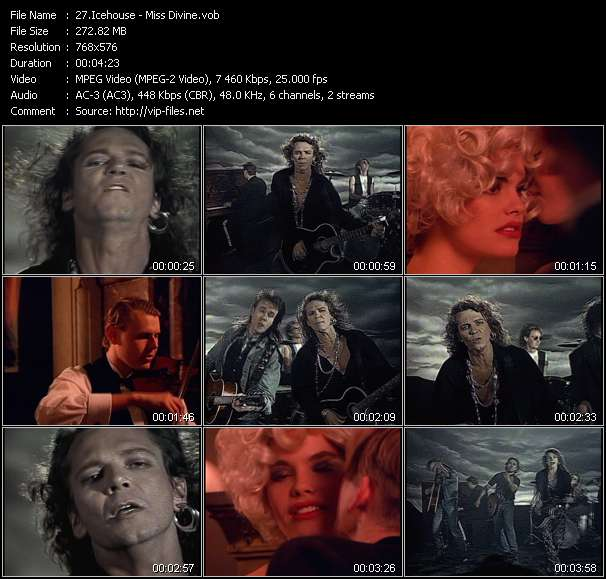 Screenshot of Music Video of Icehouse - Video Song: «Miss Divine»