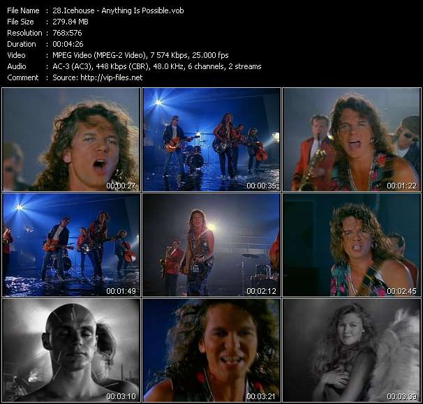 Screenshot of Music Video of Icehouse - Video Song: «Anything Is Possible»