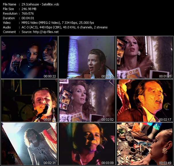 Screenshot of Music Video of Icehouse - Video Song: «Satellite»