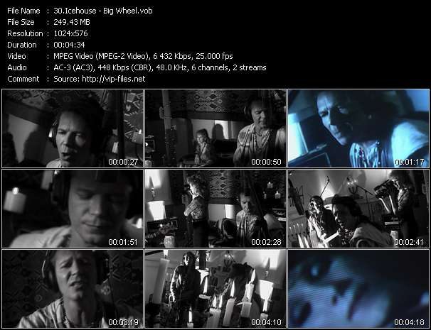 Screenshot of Music Video of Icehouse - Video Song: «Big Wheel»