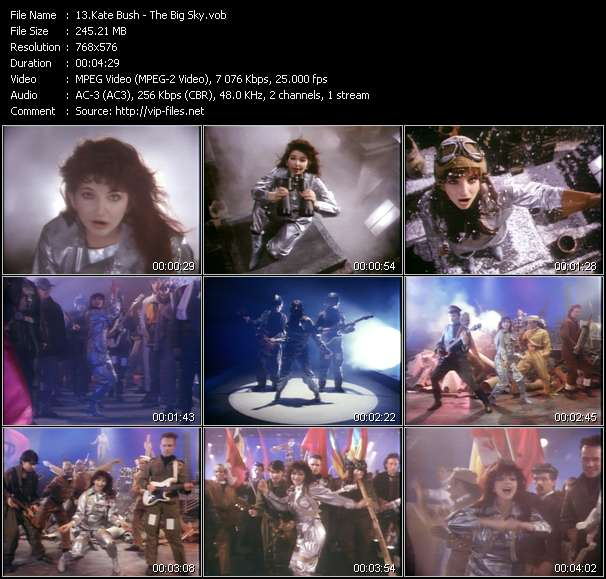 Music Video of Kate Bush - Hounds Of Love - Download HQ