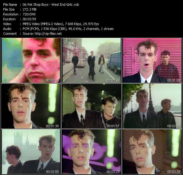 Screenshot of Music Video of Pet Shop Boys - Video Song: «West End Girls»