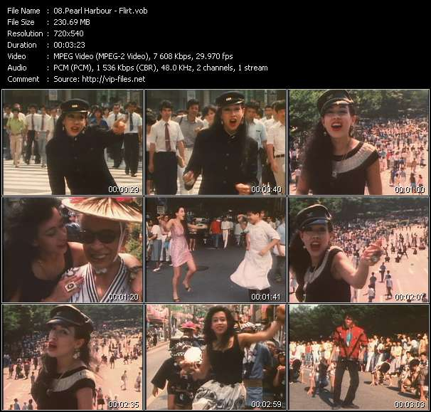 Screenshot of Video Song: «Flirt» of Pearl Harbour