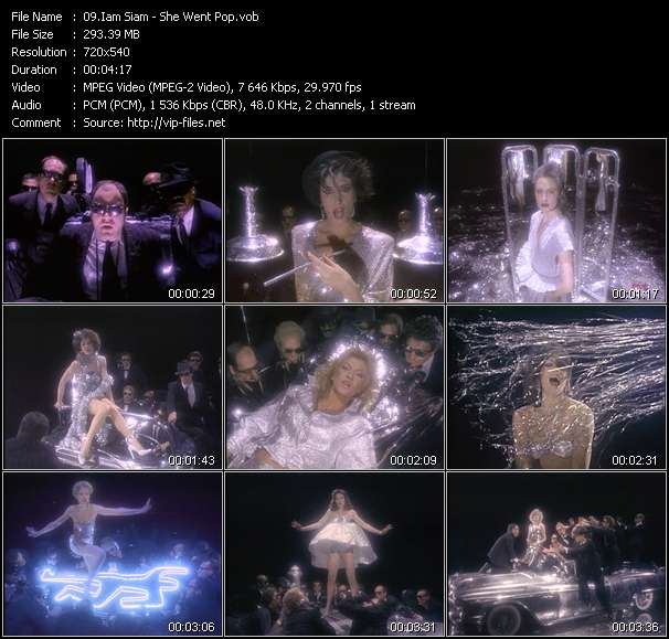 Screenshot of Video Song: «She Went Pop» of Iam Siam