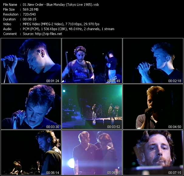 Screenshot of Music Video of New Order - Video Song: «Blue Monday»