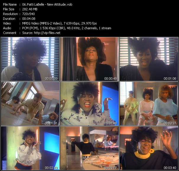 Screenshot of Music Video of Patti LaBelle - Video Song: «New Attitude»
