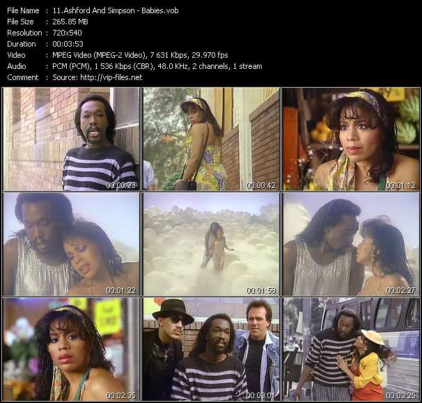 Screenshot of Music Video of Ashford And Simpson - Video Song: «Babies»