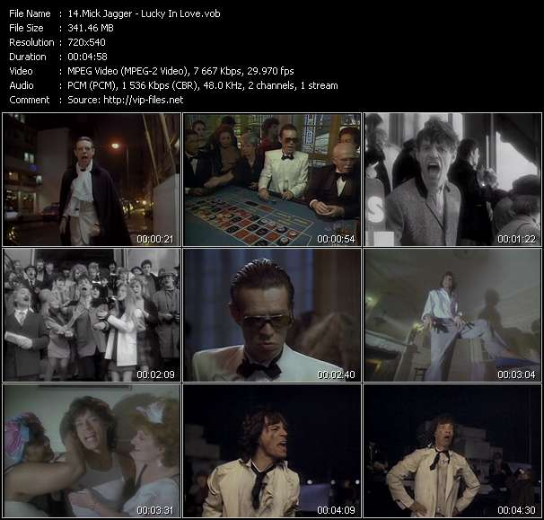 Screenshot of Music Video of Mick Jagger - Video Song: «Lucky In Love»