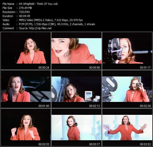 Screenshot of Music Video of Whigfield - Video Song: «Think Of You»