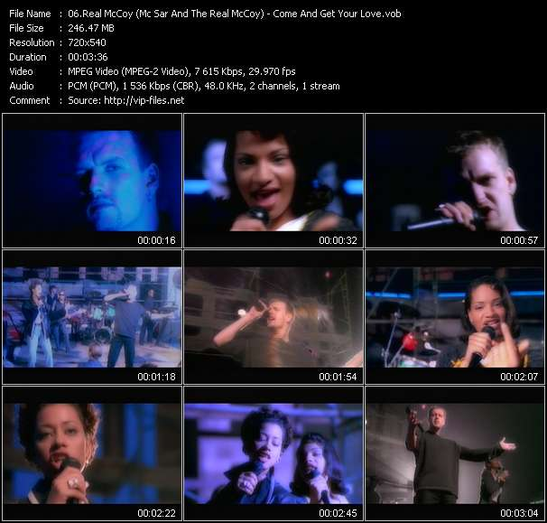 Screenshot of Music Video of Real McCoy - Video Song: «Come And Get Your Love»