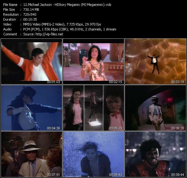 Screenshot of Music Video of Michael Jackson - Video Song: «History Megamix»