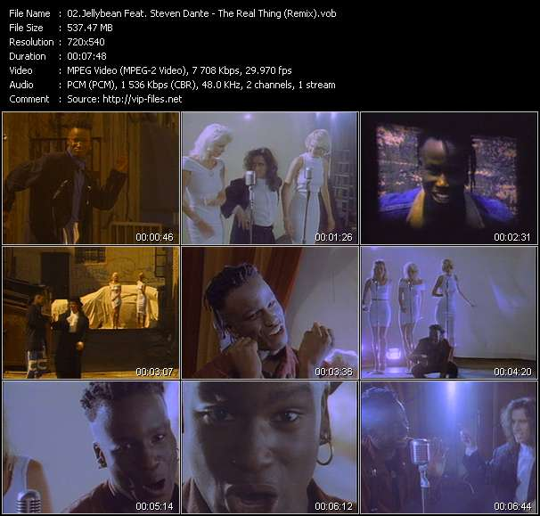 Screenshot of Music Video of Jellybean - Video Song: «The Real Thing»