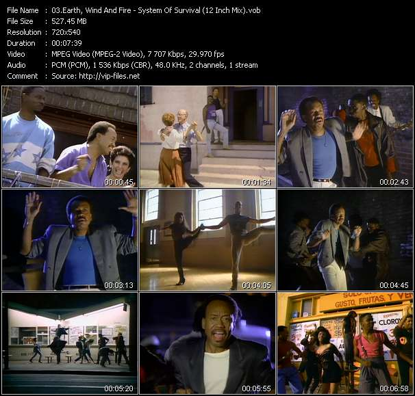 Screenshot of Music Video of Earth, Wind And Fire - Video Song: «System Of Survival»