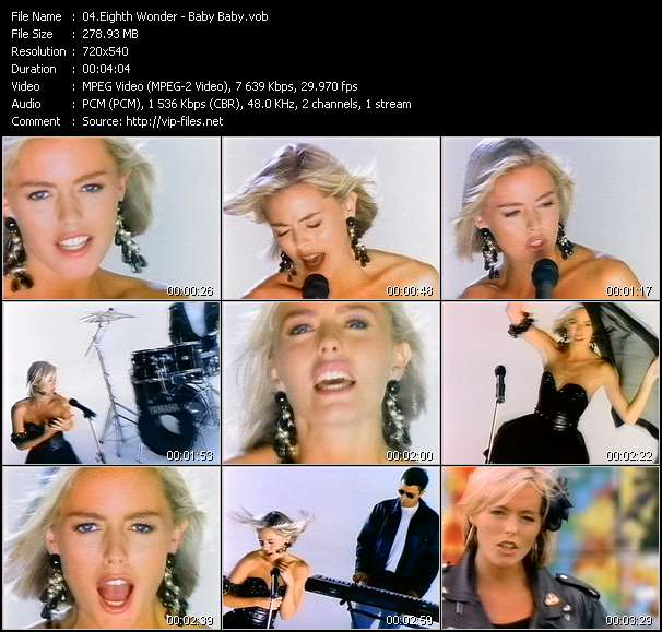 Screenshot of Video Song: «Baby Baby» of Eighth Wonder