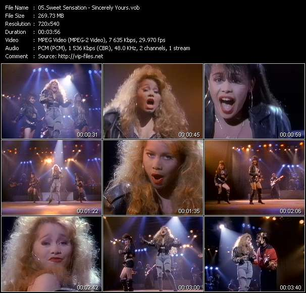 Screenshot of Video Song: «Sincerely Yours» of Sweet Sensation