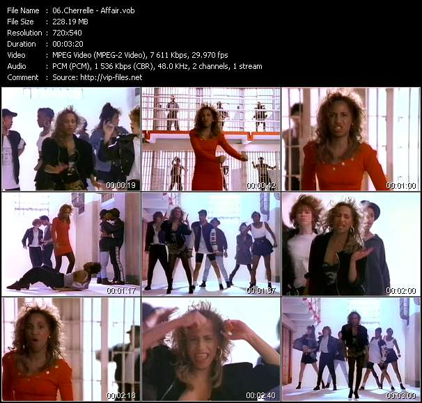 Screenshot of Music Video of Cherrelle - Video Song: «Affair»