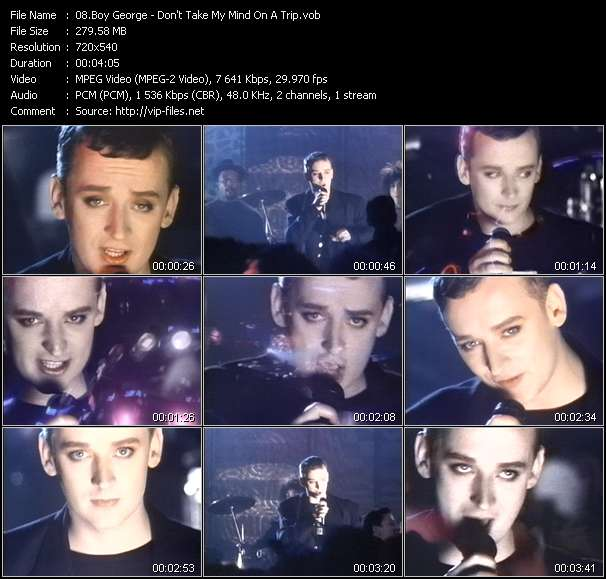 Screenshot of Video Song: «Don't Take My Mind On A Trip» of Boy George