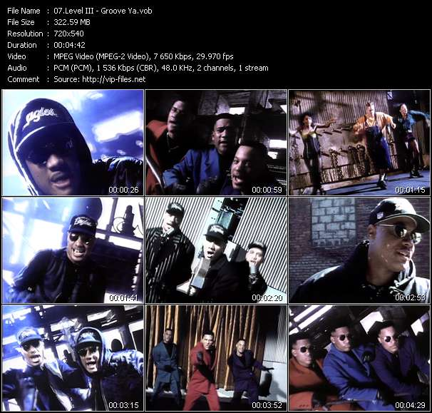 Screenshot of Music Video of Level III - Video Song: «Groove Ya»