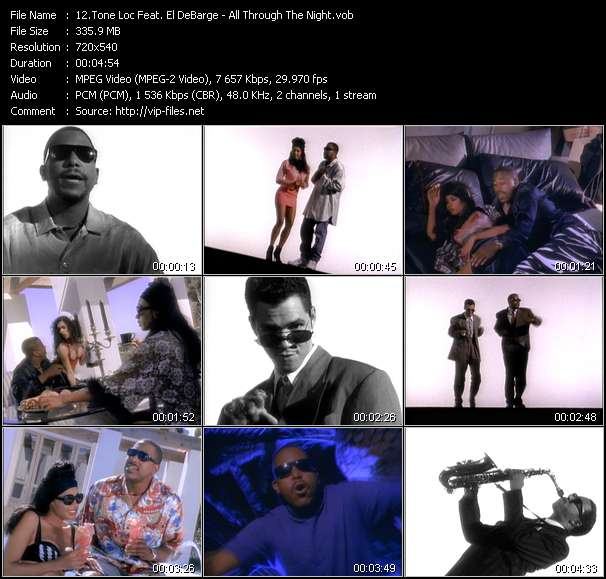 Screenshot of Music Video of Tone Loc - Video Song: «All Through The Night»