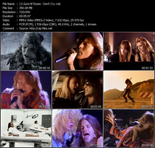 Music Video of Guns N' Roses - Sweet Child O' Mine - Download HQ